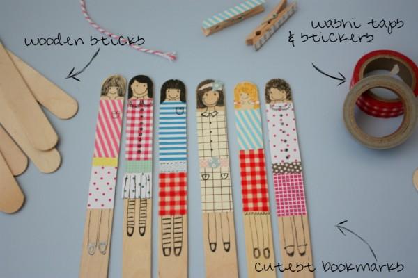 DIY cute dolls bookmarks