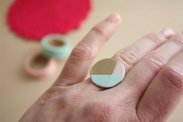 DIY token earrings and ring