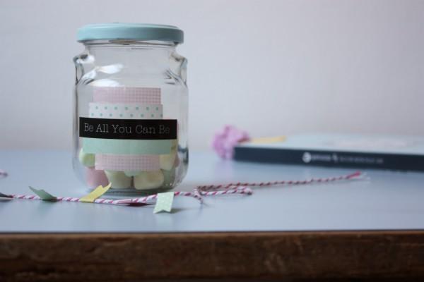 DIY favor gift in a jar