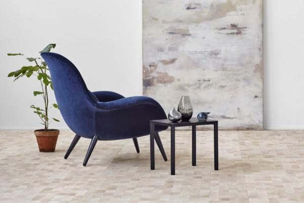 fredericiadeep blue velvet arm chair
