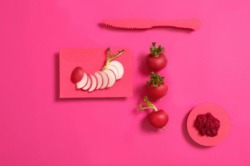 pink radish knife