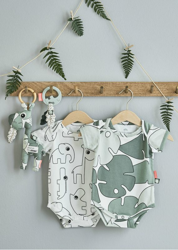babies onesie in sage green done by deer 2019 collection