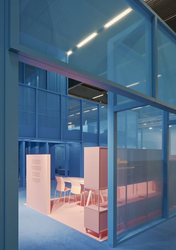 blue and living coral in interior desing