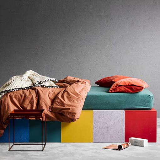 colorful and playful design with living coral accent