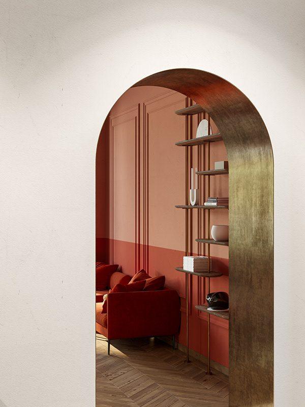 terracota and coral interior design