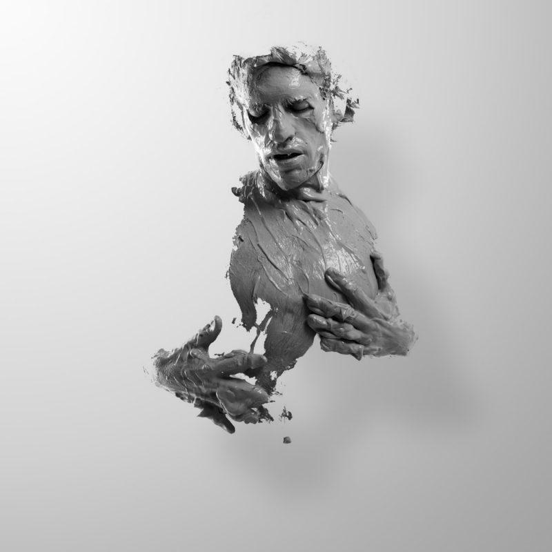 human as a living sculpture